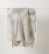 Citta Grid Wool Throw Ecru/Charcoal