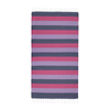 Hammamas Towel - Navy Candy Lilac, Turkish Cotton