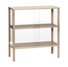 Hubsch Oak and Glass Display Cabinet