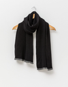 Stella and Gemma Scarf with Lurex Trim Black