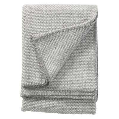 Klippan Domino Lambwool Blanket - Light Grey, throw