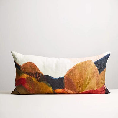 Thread Design Painted Trees Lumbar Cushion,georgina hoby scut, belle hawke