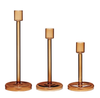 hubsch amber glass candle stick trio, set of 3, danish DESIGN