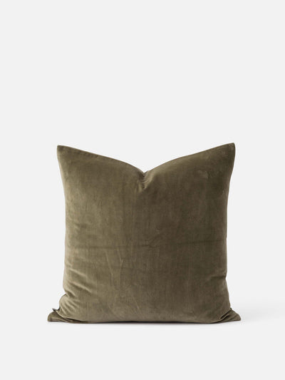 Citta Cotton Velvet Cushion 55 x 55cm - Sage