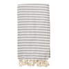 Izzy and Jean St Tropez Turkish Towel - Grey