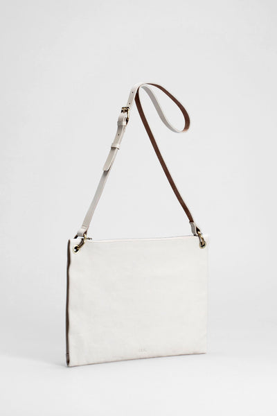 Elk Kolind Large Bag - Blanc, white, cream leather,