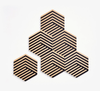 Areaware Table Tiles - Optic Black, cork coaster MDF