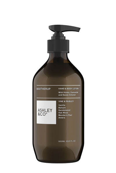 Ashley & Co Soother Up Hand & Body Lotion, Vine & Paisley