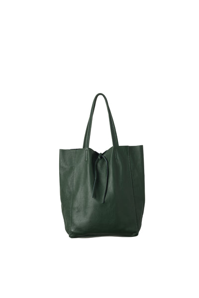 Citta florence leather tote, nz, jungle green