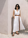 Elk Karis Maxi Dress - White
