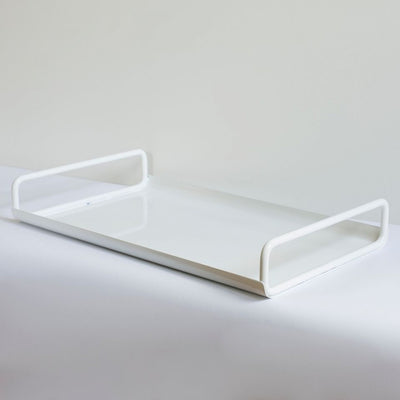 ICO TRADERS ALL DAY TRAY, METAL, POWDERCOATED, LAP, white