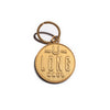 Izola keychain, gold plated, keyring, mens gift, elegant keyring for boys.