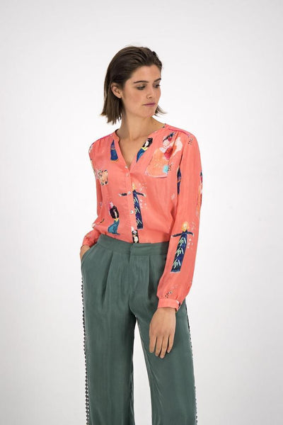 POM Lucky Charms Blouse - Coral