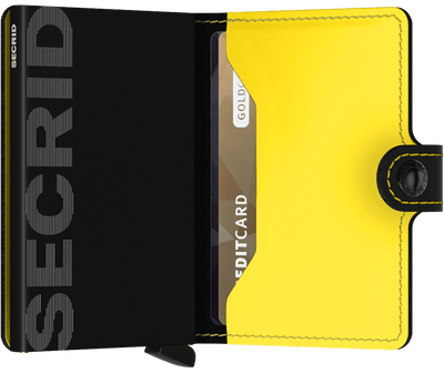 Secrid Miniwallet - Matte Black & Yellow