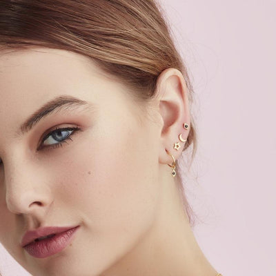 Silk & Steel Superfine Starry Night Stud - Gold