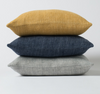 Citta Heavy Linen Cushion - Grey