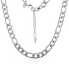 Silk & Steel Figaro Necklace - Silver