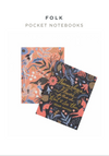 Rifle Paper Co Folk Print Notebooks/Pack 2