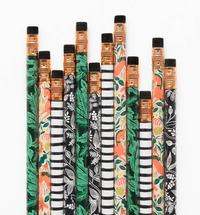 Rifle Paper Co, NZ stockist, pencil set, cute stationery, floral