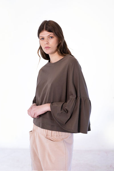 Recreate Sunday Top - Taupe
