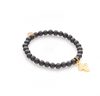 Silk & Steel Super Cross Bracelet - Black Onyx / Gold