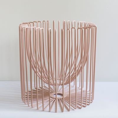 ICO TRADERS FRUIT BOWL, PLANT HOLDER, WIRE, BLUSH, PINK