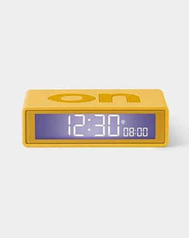Lexon Flip+ Alarm Clock - Yellow