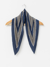 Stella and Gemma Pleat Scarf- Cobalt
