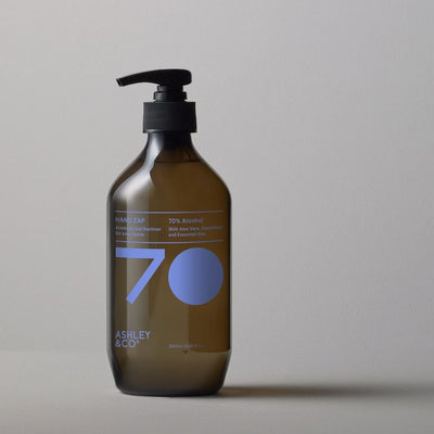 An aromatic gel sanitiser from Ashley & Co for your hands, hand zap