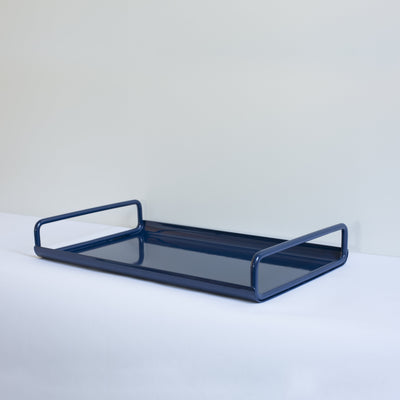 ICO TRADERS ALL DAY TRAY, METAL, POWDERCOATED, LAP, ink, navy