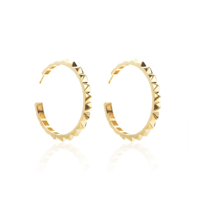 Silk & Steel Socialite The Perfect Party Hoops - Gold, earrings