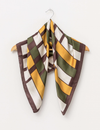 Stella and Gemma Square Scarf - Natural Geometric