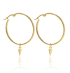 Silk and Steel All The Way Hoop Earrings Gold