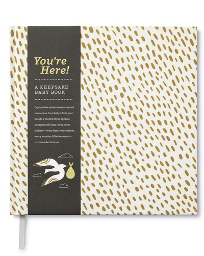 You're Here! Keepsake Baby Book