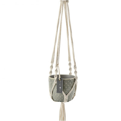 Burgon & Ball Hanging Macrame Pot