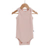 Burrow & Be Singlet Onesie - Dusty Rose, organic cotton
