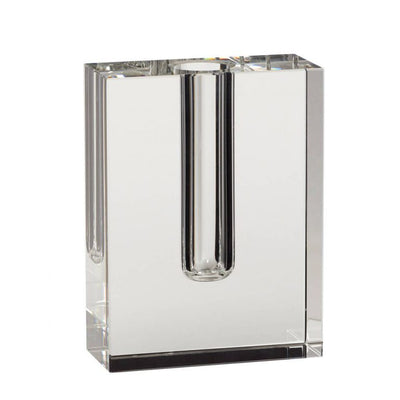 Hubsch Solid Stem Vase - Clear Crystal