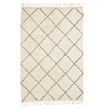 hubsch berber style geometric rug, off white and grey