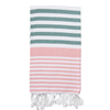 Izzy and Jean Sofia Turkish Towel - Sage/Peony