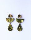 Hagen & Co Good Vibrations Earrings - Olive Shell