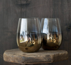 Nel Lusso Smokey Gold Wine Glass Set of 4
