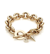 Silk and Steel Heirloom Bracelet - Gold