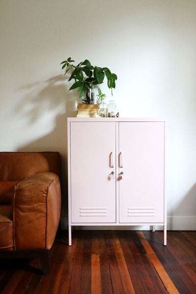 MUSTARD MADE MIDI LOCKER, DOUBLE DOOR,  blush, pink light