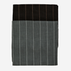 Madam Stoltz  Striped Tea Towels 4pk - Dark Grey & Black