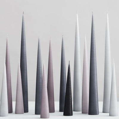 Ester & Erik Danish Cone Candles - No.09 / Zinc Grey