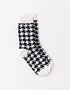 Stella & Gemma Houndstooth Socks - Black/White
