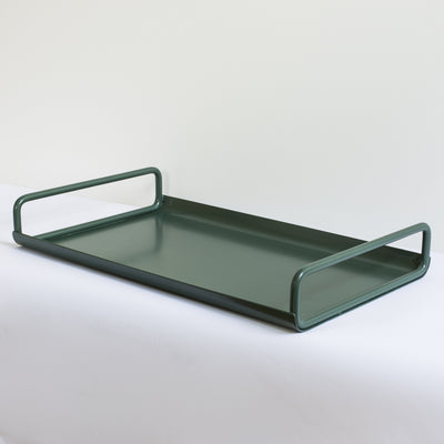 ICO TRADERS ALL DAY TRAY, METAL, POWDERCOATED, LAP, moss green