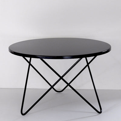 ICO TRADERS ONEROA OUTDOOR TABLE, WIRE METAL, BLACK, ROUND