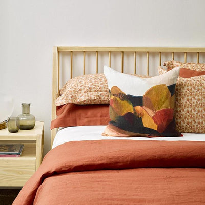 Thread Design Brick Flutter Cushion - 50 x 50cm
