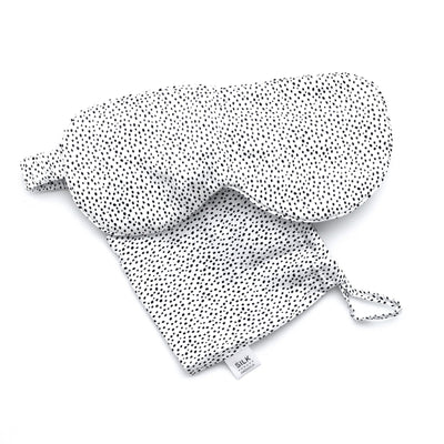 Silk Magnolia Pure Silk Travel Eye Mask - Spotty Dots